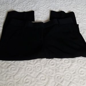 Theory Black Straight Leg Dress Pants Size O